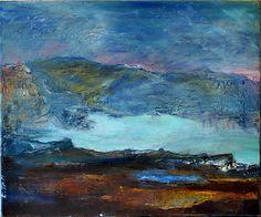 Ermitage (huile sur toile / oil on canvas ; 46cmx35cm) © Angélique Marescot Photographe. (www.angelmonphotographe.com)
