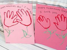 Child Care Provider: Valentines Day Crafts- For Toddlers and Preschoolers Handpr. Child Care Provider: Valentines Day Crafts- For Toddlers and Preschoolers Handprint Flowers Valentines Flowers, Valentines Day Party, Valentines For Kids, Valentine Day Crafts, Holiday Crafts, Holiday Fun, Valentine Ideas, Homemade Valentines, Baby Crafts