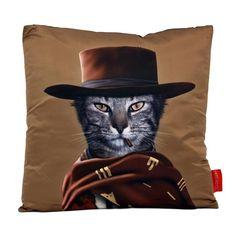 Western Cat Throw Pillow