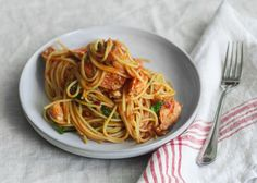 Mario Batali's Spaghetti with Sweet Garlic & Lobster - Each portion gets a full lobster's worth of meat. http://www.mariobatali.com/recipes/spaghetti-with-lobster/