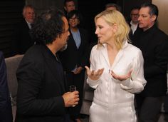Director Alejandro G. Inarritu and Actress Cate Blanchett at the Foreign Language Film Award Directors Reception at the Academy of Motion Picture Arts And Sciences on (February 26, 2016) in Los Angeles, California