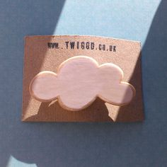 Wooden Cloud Brooch by Twiggd