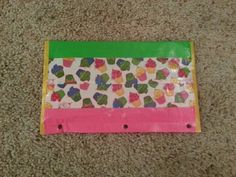 Cupcake duct tape pencil case - duck brand