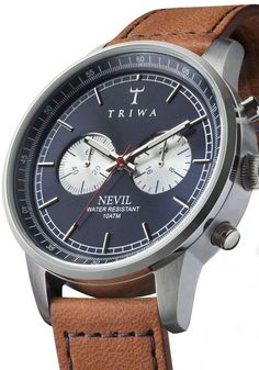 Triwa Nevil Blue Steel Brown