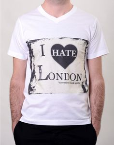 ro is for sale! Black Suits, Hate, London, Mens Tops, T Shirt, Boutique, Fashion, Supreme T Shirt, Moda