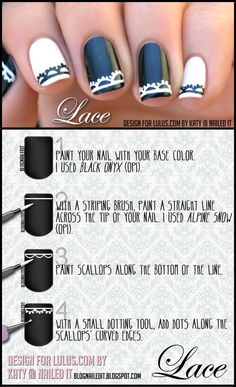 Lace Nails Tutorial for Lulus.com