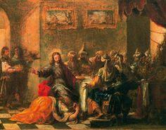 Juan de Valdés Leal - La comida en casa de Simón (La nourriture dans la maison de Simon), 1660. París, Museo del Louvre.