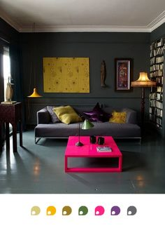 #home #decor #neonpink #neon #gray
