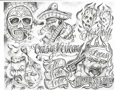 Chicano Drawings Of Roses chicano Gangsta Tattoos, Chicano Tattoos, Lettrage Chicano, Chicano Drawings, Tattoos Skull, Girl Tattoos, Feather Tattoos, Forearm Tattoos, Tattoo Drawings