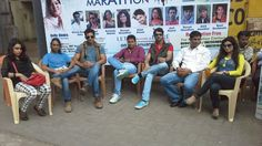 "film ""makad jaala a political trap""[sound camera action criation] team at kandivali TV9 SHAKHA9, for promoting mumbai mairathan"