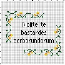 Dont let them get to you. Bullied? Picked on? Know someone who has? This is an important reminder to keep your head up in the face of adversity. This is the LATIN version of the english pattern here: https://www.etsy.com/ca/listing/255453635/dont-let-the-