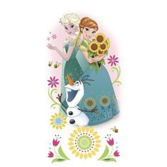 RoomMates RMK3018GM Disney Frozen Fever Group Peel & Stick Giant Wall Graphic, 6 Count - - Amazon.com