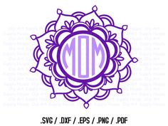 ✿ THIS COLLECTION IS AN INSTANT DOWNLOAD!! ✿  Mandala Circle Monogram Frame Design Files, Use With Silhouette Software, DXF Files, SVG Font, EPS File, Silhouette, Cricut Design  ●✿● FORMATS INCLUDED ●✿●  ● .DXF  ● .EPS  ● .PNG  ● .SVG  ● .PDF  ●✿● FILES INCLUDED IN EACH FORMAT ●✿●  ● 1 Mandala Circle Frame  ●✿● Fonts and monogram alphabets are NOT included. Please click the link below for our most popular Circle Monogram:  https://www.etsy.com/listing/246765501  ●✿● FILES CAN BE USED FOR…