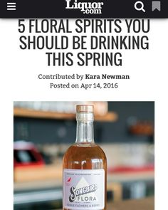 Our Songbird Flora is sitting pretty on the homepage of @liquordotcom today. We couldn't agree more: it's a floral spirit you need to try now. One of our favorite super simple recipes is the Flora Spritzer: 2oz Flora in a Collins glass fill with ice top with club soda and a big squeeze of lemon. Stir gently.