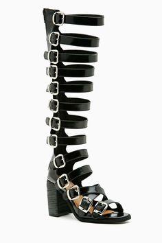 Black boots shoes