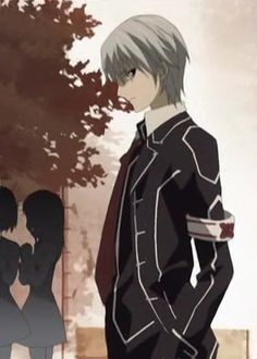 Zero - Vampire Knight. YES I FOUND IT. ANIME FREAK. I AM AN ANIME FREAK AND PROUD.