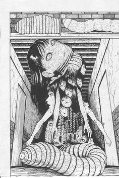 Junji Ito Arte Horror, Horror Art, Art And Illustration, Illustrations, Manga Anime, Manga Art, Anime Art, Bizarre Art, Creepy Art