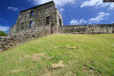 Ruines du Château Dubuc, une des plus importantes plantations de la Martinique sur la presqu'île de la Caravelle.