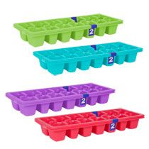 Bulk Colorful Plastic Ice Cube Trays 2 Ct Packs At Dollartree Com
