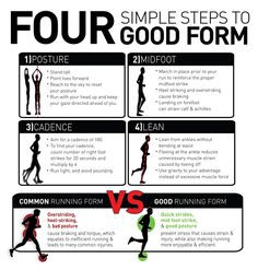 Good form is important, and I promise you can feel the difference when you run right.