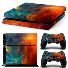 PS4 Skin Space Design Decal 2x Controller Skins