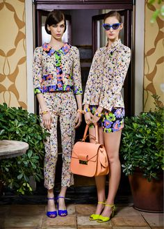 floral suits at Moschino Resort '13