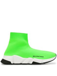 Shop online green Balenciaga speed sock trainers as well as new season, new arrivals daily. Phenomenal luxury selection, get it now with quick Global Shipping or Click & Collect orders. Green Sneakers, Leather Sneakers, Fashion Socks, Sneakers Fashion, Fashion Outfits, Balenciaga Shoes, Balenciaga Gifts, Balenciaga Speed Trainer, Hype Shoes