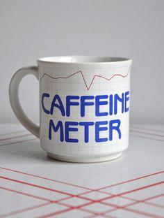 Retro 1980's Caffeine Meter Mug, $10.