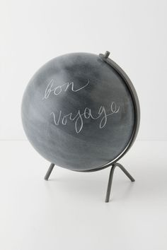 Soapstone Globe be fun to DIY with some chalkboard paint on an old globe! Pretty Things, Lovely Things, Painted Globe, Deco Originale, Chalkboard Paint, Chalk Paint, Chalkboard Drawings, Chalkboard Lettering, Black Chalkboard