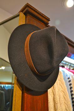 Borsalino Men s Black with brown strap dress Hat. 76bb8d14efc5