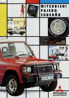Mitsubishi Pajero Zubehör Prospekt 6/88 1988 Autoprospekt Broschüre brochure Pkw | eBay!