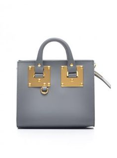 Box Albion Square Leather Tote in Grey by Sophie Hulme a8f3138e57ab2