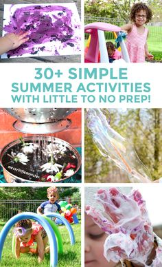 Beat boredom with this list of 30 summer activities for kids. Little to no preparation required for these fun activities. Easy ideas for outdoor fun!