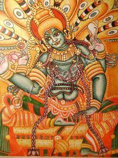 Coding Classes For Kids, Mural Art, Murals, Kerala Mural Painting, Lord Vishnu, Fashion Painting, Deities, Iphone Wallpaper, Crafts For Kids