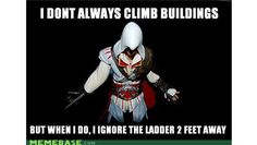 Assassin's Creed memes - The best Assassin's Creed images and jokes we've seen - Assassins stuff Video Game Logic, Video Games Funny, Funny Games, Hilarious Jokes, Funniest Memes, Best Assassin's Creed, Assassian Creed, Deutsche Girls, Assassins Creed Memes