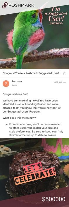 🎉🦋News! I'm a Suggested User!! 🦋🎉 7.6.17 I am SO excited to tell you all that I am now one of Poshmark's newest Suggested Users AND I am celebrating my 1st Posh Anniversary! Woo-hoo!  THANK YOU all for so much fun and friendship this year! ☺️🌺🦋🌺🦋🌺🦋🌺 love on a hanger Tops