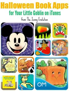 Here is a list of top Halloween book apps for your own goblins to read, play and learn on your iPhone, iPad or iTouch. Halloween Books, Halloween Projects, Holidays Halloween, Halloween Kids, Halloween Party, Halloween Tricks, Happy Halloween, Kindergarten Activities, Activities For Kids