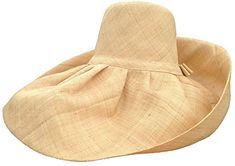 b4a75dddf04 Women Sun Hats · Huge Natural Raffia Madagascar Hat 9 Inch Brim by Goal  2020 Review Caps Hats