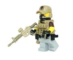 Private Military Contractor Operator PMC Minifigure made with real LEGO(R) parts Army Of Two, Legos, Nerf Accessories, Lego Soldiers, Lego Baby, Lego Furniture, Gta, Micro Lego, Military Figures