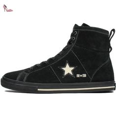 All Star Hi Leather Suede, Sneakers mixte adulte - noir - Black/Silver, 38 EU EUConverse
