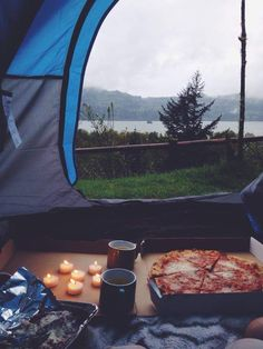 Camping and Pizza #camping #love #campvibes