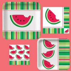 watermelon paper products...  Restaurants should have some to go meal options so guests can watch the band!