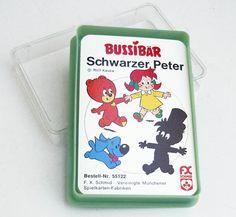 Vintage Kartenspiele - Schwarzer Peter Bussibär, 70er, Kartenspiel - ein…