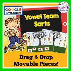*Google Drive - Google Classroom* This hands-on activity is designed to supplement your long vowel /vowel team lessons or assess long vowel knowledge with a fall leaves theme. Each word sort contains movable word pieces(oa, ow, ai, ay, ee, ea) for students to manipulate.