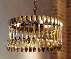 Lámpara de cucharitas