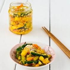 A very appetising Achar (Spicy Pickled Veg Salad)
