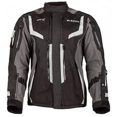 We've ventured into the world of truly HEAVY DUTY gear with Klim this year. I've spent a good 45 minutes familiarizing myself with this new Badlands Pro. Motorcycle Travel, Motorcycle Outfit, Motorcycle Jackets, Forearm Sleeve, Gore Tex, Gray Jacket, Shoulder Pads, Sport Outfits, Rally