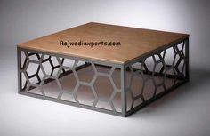 Custom Metal Home Furniture Design of Miller Coffee Table by Lucy Smith Designs Alabama - Decor Ideas Iron Furniture, Steel Furniture, Industrial Furniture, Custom Furniture, Table Furniture, Home Furniture, Furniture Design, Coffee Table Plans, Coffee Table Design