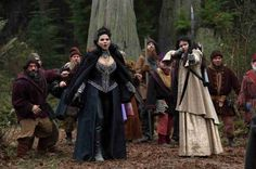 OUAT Regina and Snow with dwarves on Season 3, Episode 13