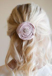 Silk Diamante Hair Clip